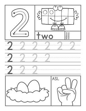 preschool number worksheets 175   Number2