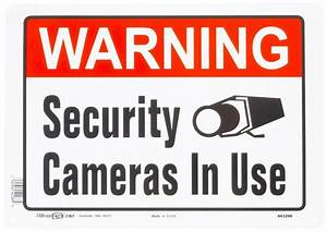 WARNING SECURITY CAMERAS IN USE metal SIGN video security ...