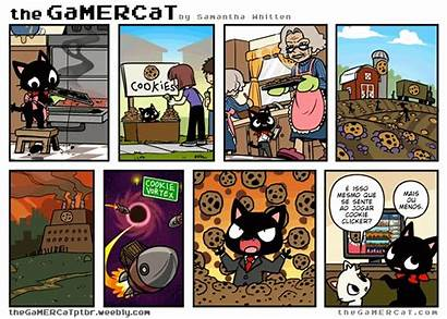 Gamercat Comics Cookie Gamer Clicker Cat Comic