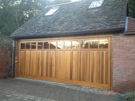 Double Garage Doors  Up & Over, Sectional, Wood, Roller