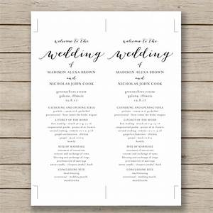 wedding program template 41 free word pdf psd With wedding ceremony program template