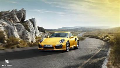 Porsche 911 Turbo Yellow Wallpapers Cars 1600