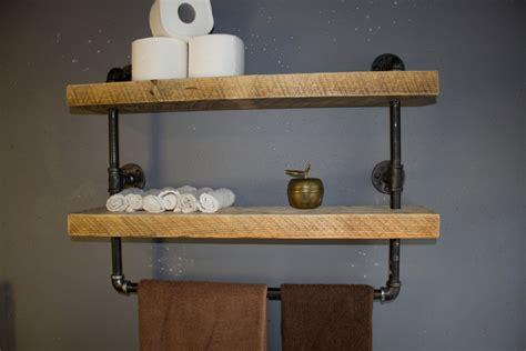 industrial pipe shelf bathroom shelves kitchen