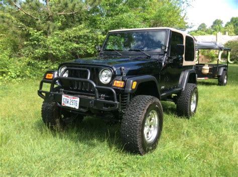jeep convertible black jeep wrangler ls1 v8 4x4 trailer cer hard top