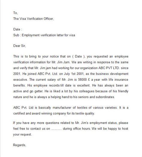 employment verification letter template word visa employment verification letter check out visa
