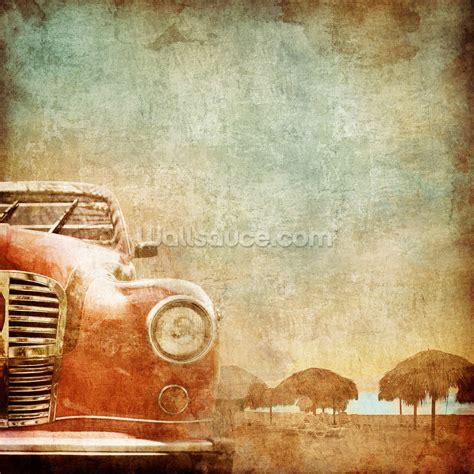 American Vintage Car Wallpaper Mural