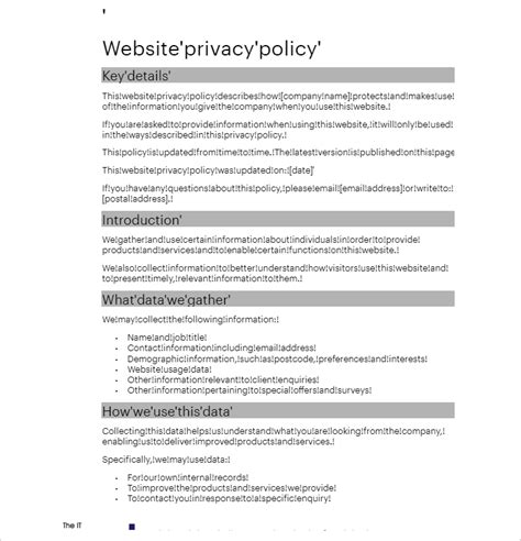 website privacy policy template 13 privacy policy templates free pdf sles exles