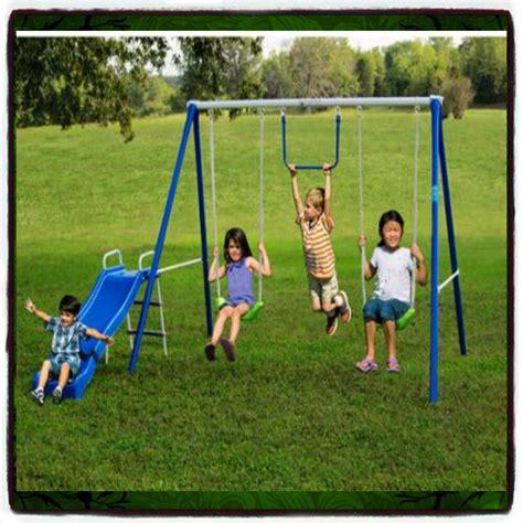 Play Swing by Swing Set Playground Outdoor Swingset Play Backyard Slide