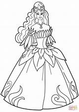 Coloring Princess Pages Printable Flower Gown Dresses Colorear Para Dressing Sheets Fancy Disney Fairy Sketch Princesa Vestido Dibujo Belle Colors sketch template