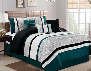 Buy, Gray, And, Teal, Bed, In, A, Bag, Comforter, Set, Twin, Twinxl