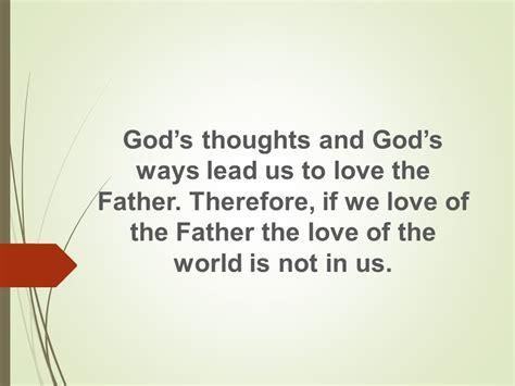 God's Thoughts, God's Ways - Focus Online