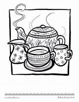 Coloring Pages Colouring Tea Adult Teacups Adults Sheets Kettle Printables Books Printable Coffee Cups Doodle Living Party Popsugar Easy Colour sketch template