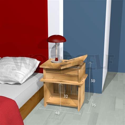 table de nuit woodself le site des plans de meubles gratuits