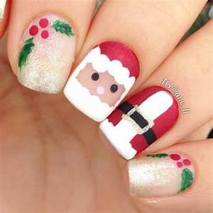 Cute Santa Claus Christmas Nails