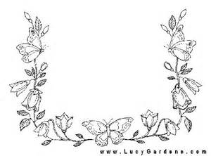 Butterfly Flower Coloring Pages Printable