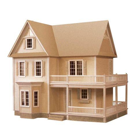 miniature dollhouse kitchen furniture 39 s farmhouse dollhouse kit 94592 the home depot