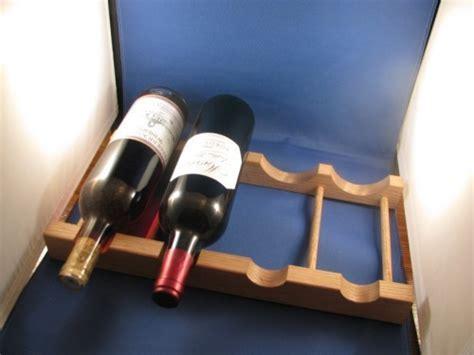 Refrigerator Shelf, 4 Wine Bottle Wooden Oak Rack.