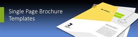 single page brochure templates  single page