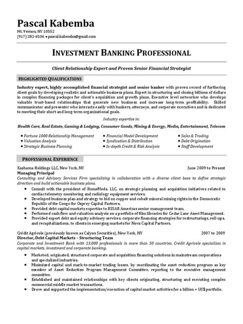 100 resume investment banking financial modeling