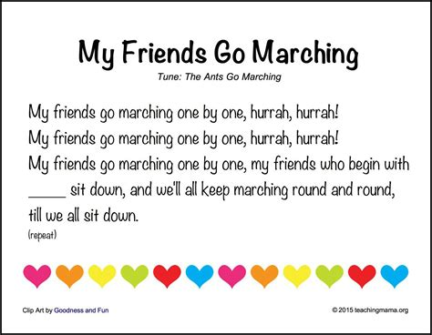 back to school songs for preschoolers 724 | My Friends Go Marching