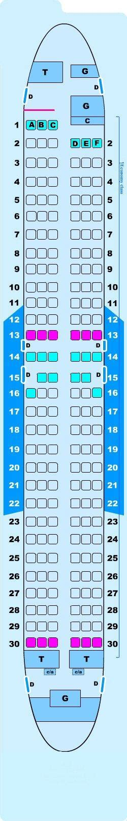 reservation siege airlines seat map boeing b737 800 seatmaestro