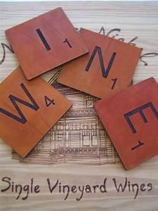 ceramic idea quotscrabblequot coaster set arts and crafts With ceramic letter coasters