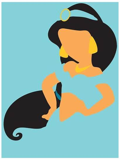 Aladdin Disney Jasmine Princess Minimalist Adrian Silhouette
