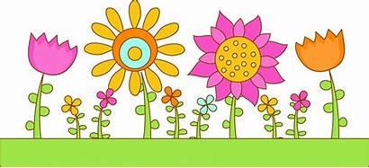 Garden Clipart Flower Clip Drawing Vector Border