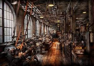 Machinist - A Fully Functioning Machine Shop Photograph by