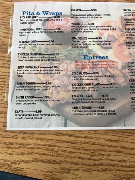 menu  pita king restaurant kennesaw georgia