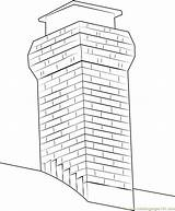 Chimney Coloring Pages Orig Template Coloringpages101 Pdf Templates sketch template