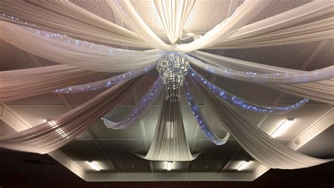 diy ceiling draping invitations ideas