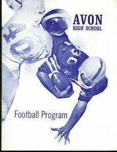 Avon High School vs Griswold Football Program 1970 CT | eBay