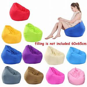 Waterproof, Stuffed, Animal, Storage, Soft, Bean, Bag, Solid, Color, Oxford, Chair, Cover, Zipper, Beanbag