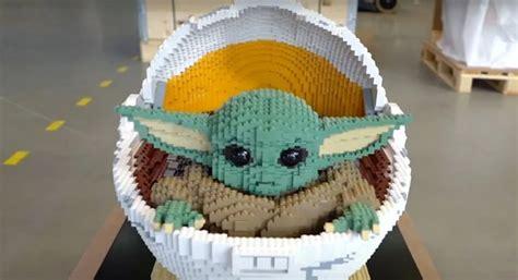 Baby Yoda life-sized LEGO sculpture - Fantha Tracks
