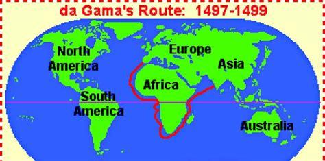 Route Vasco Da Gama by Vasco Da Gama Discovers The Sea Route To India The Asian