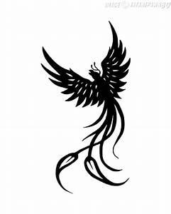 Black Phoenix Tattoo Stencil By Kate