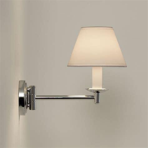 traditional swing arm bathroom wall light white pvc