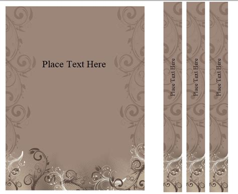 binder cover templates word  publisher
