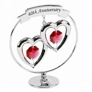 40th anniversary gift ruby wedding present crystocraft for Gifts for wedding anniversary