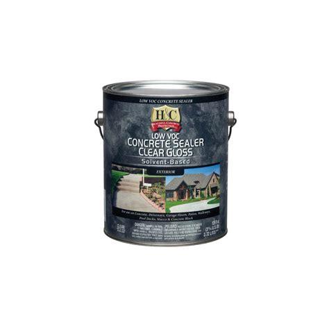 shop h c gallon clear gloss solvent based concrete sealer