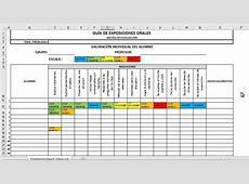 Conjunto de rubricas automatizadas en Excel para distintos
