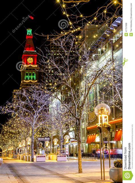 christmas light displays colorado holiday lights in denver colorado usa editorial stock