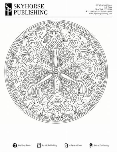 Coloring Adult Pages Mandala Printable Quick Relaxation