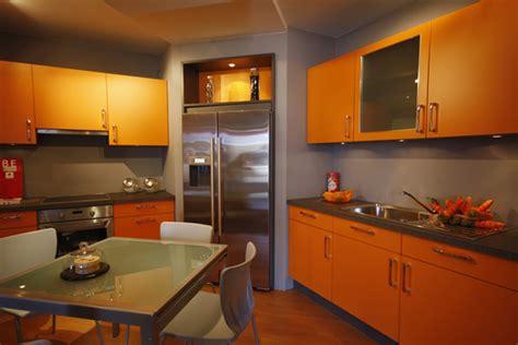 cuisine orange cuisine orange photo 7 10 meubles de cuisine gris et