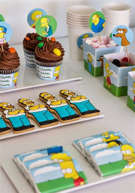 foto de Kara's Party Ideas The Simpsons themed birthday party via