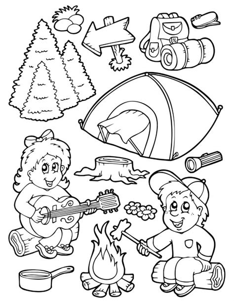 preschool camping coloring pages az coloring pages 895 | zcX4RyKoi