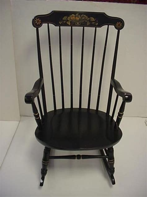Hitchcock Rocking Chair Black by Page Not Found Live Auctioneers