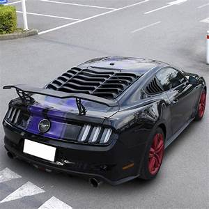 Rear Window Louvers Trunk Spoiler Wing For Ford Mustang 2015 2016 2017 2018 2019 | eBay