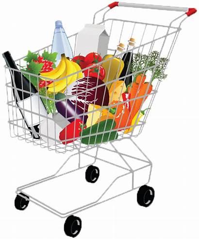 Grocery Basket Clipart Transparent Shopping Supermarket Clip